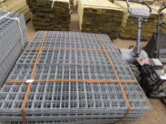 PALLET CONTAINING APPROXIMATELY 150NO MESH GRILLE PANELS, GALVANISED. 53.5CM X 137CM APPROX.