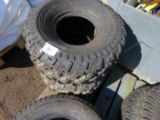 2 X QUAD BIKE/UTILITY TYRES 25X13.00-9, LITTLE SIGN OF USEAGE.