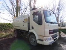 DAF FA45.150 SCARAB ROAD SWEEPER, REG:FJ56 VXO. WHEN TESTED WAS SEEN TO RUN AND DRIVE ON GEARS AND H