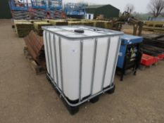 IBC PALLETISED FLUID CONTAINER.