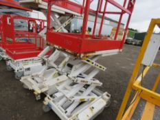 HYBRID HB830 SCISSOR LIFT ACCESS PLATFORM, 14FT MAX WORKING HEIGHT. SN:E05100302. DIRECT FROM COMPAN
