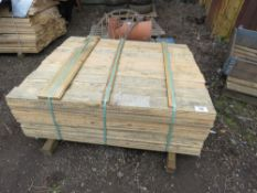 PACK OF TIMBER SLATS 1.14M LENGTH APPROX.