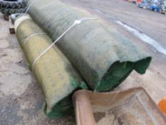3 X ROLLS OF PRE USED SPORTS SURFACE/ASTROTURF 15M LENGTH X 1.85M WIDTH APPROX.