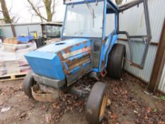 ISEKI 545 4WD TRACTOR WITH A CAB. 4764 REC HOURS. WHEN TESTED WAS SEEN TO RUN AND DRIVE.