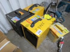 3 X CUBE HEATERS PLUS 2 XTRANSFORMERS, CONDITION UNKNOWN.