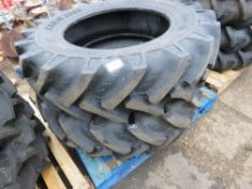 2NO 13.6-28 AGRICULTURAL COMPACT TRACTOR TYRES, LITTLE USED.