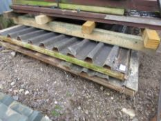 2 X METAL COVERED YARD GATES TO SUIT 10FT OPENING APPROX.