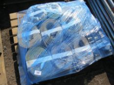 PALLET OF ASSORTED STRAPS AND SLINGS.