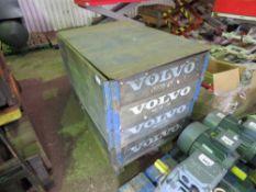 STILLAGE CONTAINING 8 X GENUINE BRAKE DRUMS FOR VOLVO FH, FM & FL LORRIES. PART NUMBER :3171747.