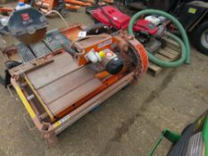 TILE CUTTING SAWBENCH WITH LEGS, 110VOLT POWERED.