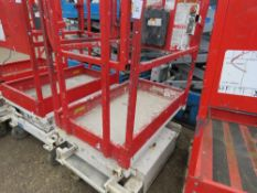 HYBRID HB830 SCISSOR LIFT ACCESS PLATFORM, 14FT MAX WORKING HEIGHT. SN:E0510278. UNTESTED, CONDITION