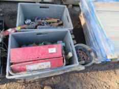 PALLET OF UTILITY RELATED SUNDRY ITEMS.