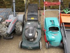 HAYTER HARRIER 56 MOWER WITH COLLECTOR. WHEN TESTED WAS SEEN TO RUN, DRIVE AND BLADES TURNED.