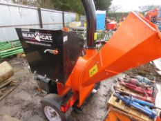 BEARCAT SC5720B TOWED SHREDDER UNIT YEAR 2012, WITH SPARE BLADES ETC.