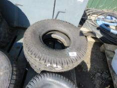 2 X BKT 7.00-12 MACHINE TYRES, LITTLE SIGN OF USEAGE.
