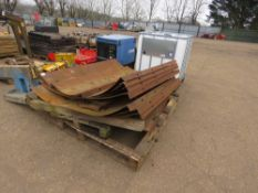 PALLET OF MANHOLE SHUTTERING FORMS.