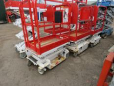 HYBRID HB830 SCISSOR LIFT ACCESS PLATFORM, 14FT MAX WORKING HEIGHT. SN:E0510111. UNTESTED, CONDITION