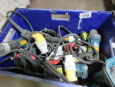 BIN OF ASSORTED POWER TOOLS, CONDITION UNKNOWN.