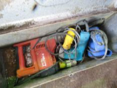 3 X POWER TOOLS: HILTI TE64 BREAKER, SANDER AND A DRILL.