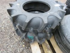 2NO 7-14 AGRICULTURAL COMPACT TRACTOR TYRES, LITTLE USED.