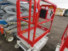 HYBRID HB830 SCISSOR LIFT ACCESS PLATFORM, 14FT MAX WORKING HEIGHT. SN:E05100280. DIRECT FROM COMPAN