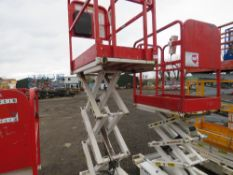 HYBRID HB830 SCISSOR LIFT ACCESS PLATFORM, 14FT MAX WORKING HEIGHT. SN:E05100096. DIRECT FROM COMPAN