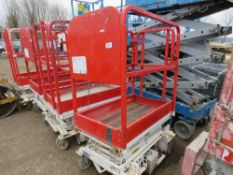 HYBRID HB830 SCISSOR LIFT ACCESS PLATFORM, 14FT MAX WORKING HEIGHT. SN:E0510647. UNTESTED, CONDITION