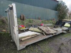 BEAVERTAIL TRUCK BODY. TAKEN FROM MAN CHASSIS. 16FT X 8FT APPROX WITH WINCH, RAMPS AND ALUMINIUM SID