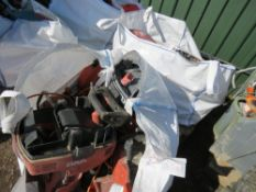 2 X BULK BAGS OF ASSORTED SCRAP POWER TOOLS AND PARTS, MANY BEING HILTI.