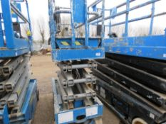 GENIE GS1932 SCISSOR LIFT ACCESS PLATFORM, 7.6M MAX WORKING HEIGHT. WHEN TESTED WAS SEEN TO DRIVE,