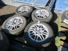 4 X FORD 19560R15 WHEELS AND TYRES.