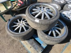 4 X MERCEDES 245/35ZR20 WHEELS AND TYRES.