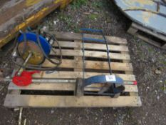 PALLET CONTAINING AIR GREASER, GREASE GUNS, OIL PUMP ETC.