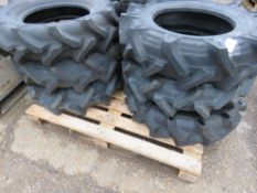 6NO 8-6 AGRICULTURAL COMPACT TRACTOR TYRES, LITTLE USED.