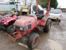 HONDA 6522 4WD COMPACT TRACTOR. 2942 REC HOURS. WHEN TESTED WAS SEEN TO RUN AND DRIVE.