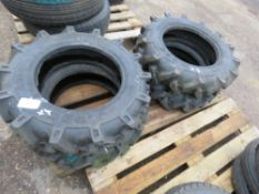 4NO 6.00-14 AGRICULTURAL COMPACT TRACTOR TYRES, LITTLE USED.
