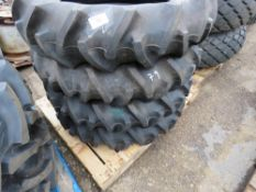 4NO 11.2-24 AGRICULTURAL COMPACT TRACTOR TYRES, LITTLE USED.