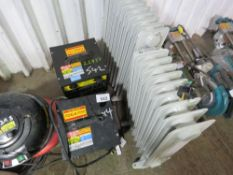 2 X CUBE HEATERS PLUS 2 X OIL FILLED RADIATORS. UNTESTED, CONDITION UNKNOWN.
