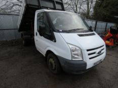 FORD TRANSIT TIPPER, YEAR 2007. REG:BU07 GMV. WITH V5 AND LONG TEST. 124,586 REC MILES.