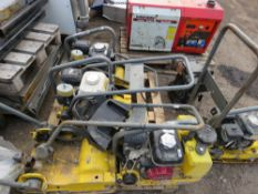 PALLET CONTAINING 4 X COMPACTION PLATES FOR SPARES/REPAIR.