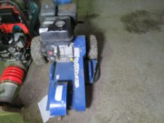 HYUNDAI PETROL ENGINED STUMP GRINDER. WHEN TESTED WAS SEEN TO RUN AND CUTTING HEAD TURNED.