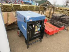 SDMO DIESEL ENGINED 6KVA BARROW GENERATOR. WHEN TESTED WAS SEEN TO RUN AND SHOWED POWER.