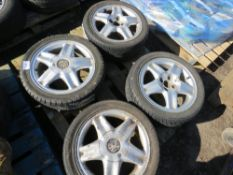 4 X VAUXHALL 195/45R15 WHEELS AND TYRES.