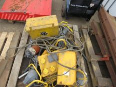PALLET OF ELECTRICAL SUNDRIES.