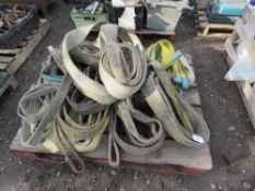 PALLET OF LIFTING SLINGS, UNTESTED.