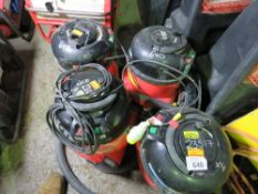 4 X HENRY VACUUM CLEANERS. UNTESTED CONDITION UNKNOWN.