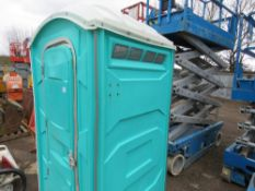 PORTABLE SITE TOILET WITH WASHBASIN.