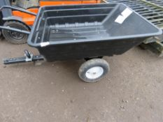 TIPPING TRAILER FOR GARDEN TRACTOR, LITTLE USED.