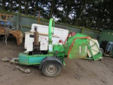 GREENMECH EC150/30 TOWED SHREDDER YEAR 2002. 3181 REC HRS. DIESEL ENGINE.WHEN TESTED WAS SEEN TO RUN