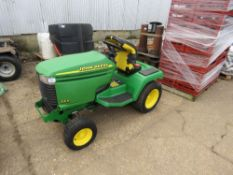 JOHN DEERE 355 diesel ENGINED LAWN TRACTOR, CONDITION UNKNOWN.
